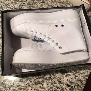 Nasty Gal Shoes - Nasty Gal platform high top sneakers